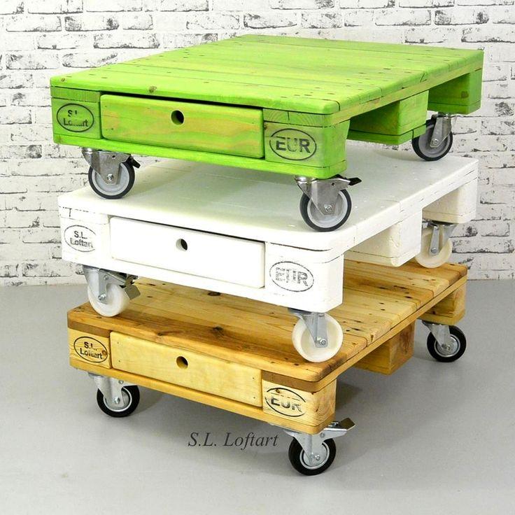 Build Pallet Coffee Table on Wheels | 101 Pallet Ideas