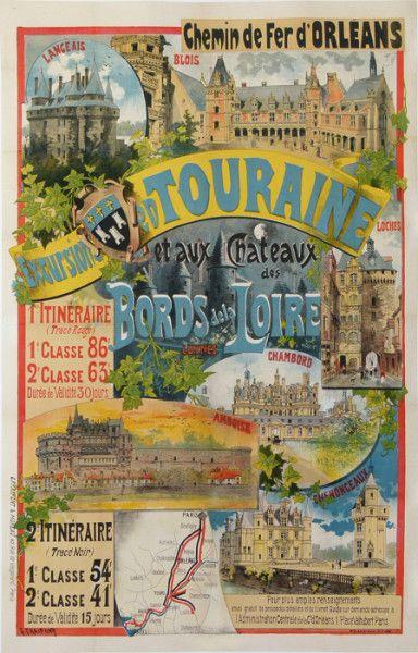 chemins de fer d'orléans - Excursions en Touraine et aux châteaux des bords de Loire -