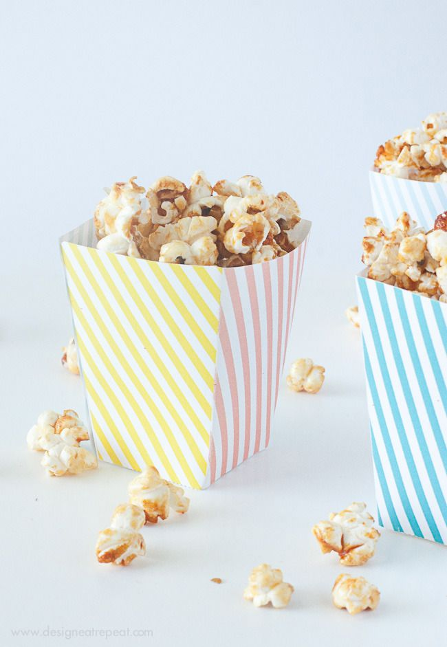 Free Printable Popcorn Box Template by Design. Eat. Repeat.