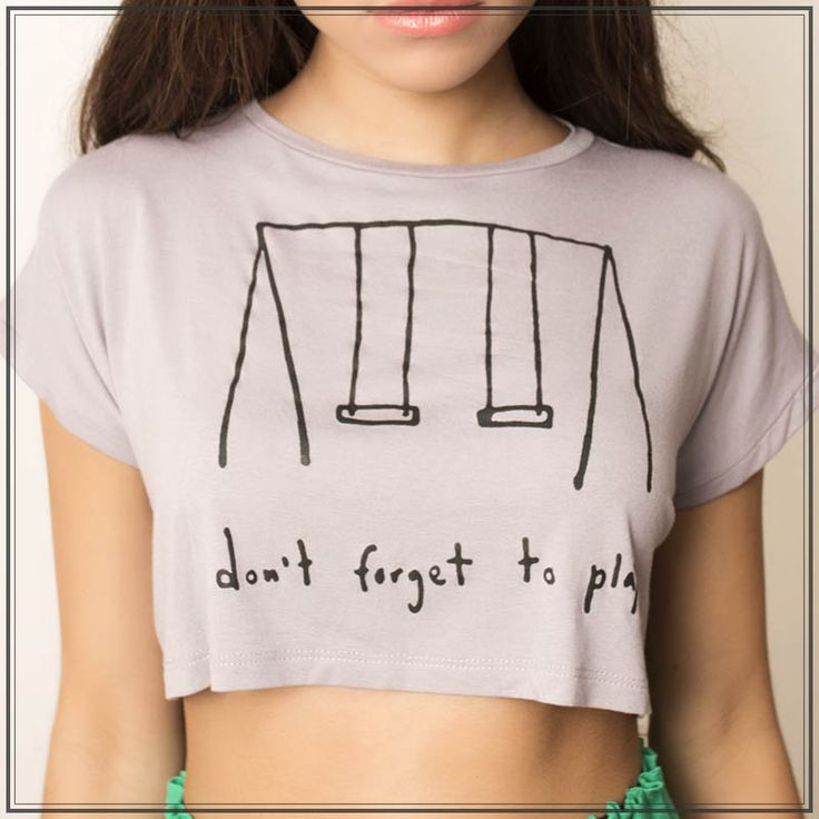Thelma & Louise - Don´t Forget To play Crop Top