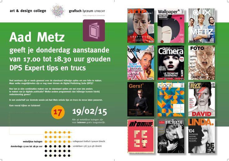 Aad Metz geeft je 19 feb. 17.00-18.30 uur gouden DPS Expert tips en trucs. Collegezaal GLU, Vondellaan 178 Utrecht.