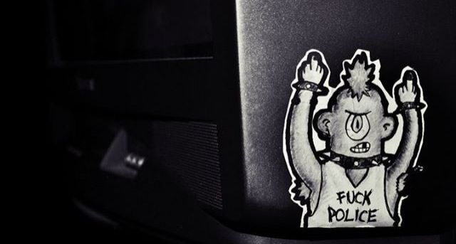 a.c.a.b. *spidol on sticker
