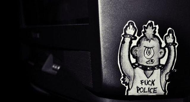 a.c.a.b. *spidol on sticker