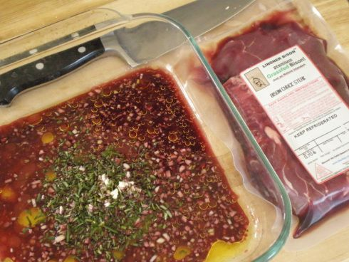 Red Wine MARINADE, for cheaper cuts, less tender cuts of steak: Chuck, Shoulder and sometimes petite shoulder, shoulder top blade stk, flat iron steak.