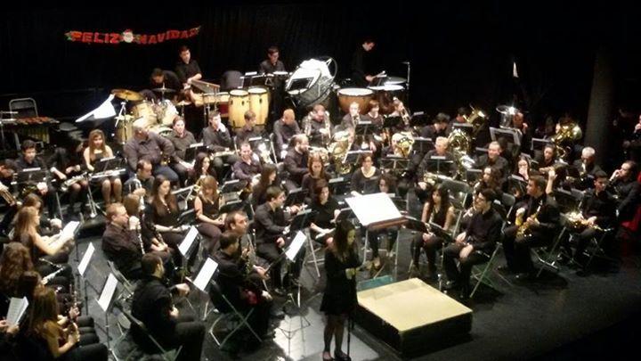 Concierto benéfico de Navidad de la 'Agrupación Musical San Clemente de la Mancha' en el Auditorio de San Clemente.