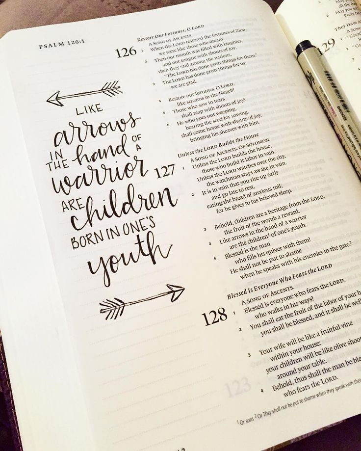sunday doodles | Behold children are a heritage from the Lord the fruit of the womb a reward. Like arrows in the hand of a warrior are the children of one's youth. Blessed is the man who fills his quiver with them! He shall not be put to shame when he speaks with his enemies in the gate. Psalm 127:3-5 | #handlettering #biblejournaling #childrenarethebestgifts by whitletters