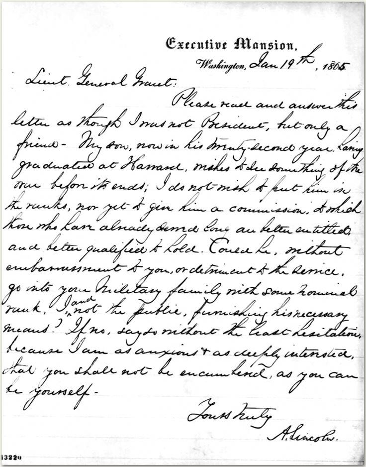 Abraham Lincoln S Letter To Mary Todd Lincoln And His Sons
