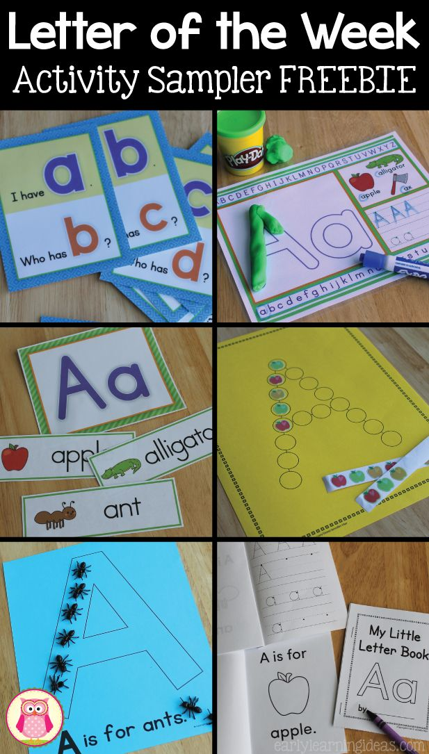 Many engaging alphabet activities that are perfect for your letter of the week or early literacy curriculum.  Kids will learn letter recognition, letter formation, and letter-sound association.  Check out these free letter A activities today. https://www.teacherspayteachers.com/Product/Alphabet-Letter-of-the-Week-Activities-Letter-A-Sample-2686880