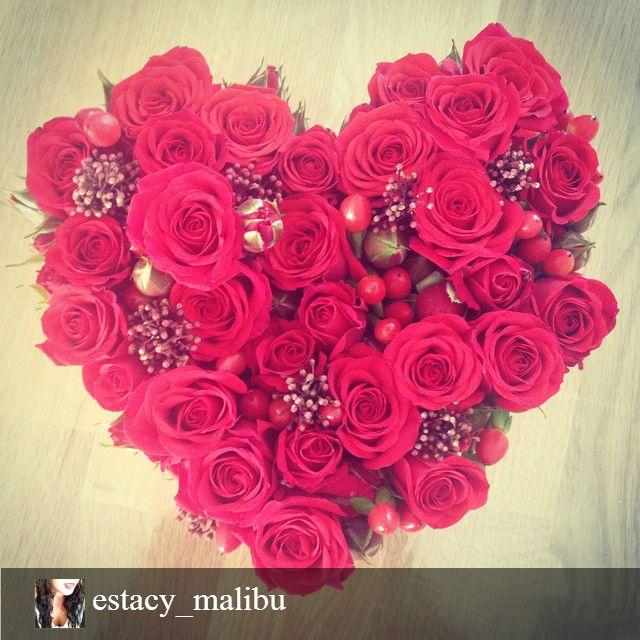 Cupidon : Coeur de roses reçu par estace_malibu ❤ #love #coeur #roses #fleurs #flowers #bouquet #amour  #inspiration  #interflora #interflorafrance #fleuriste #livraison #fleuristecreateur #compositions #florales