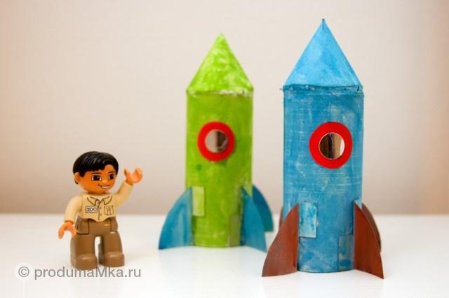 Toilet paper tube - Rockets /  Ракеты из роликов туалетной бумаги  #kidCraft #Craft