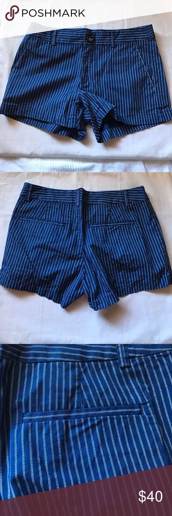 UNIQLO Blue Striped Shorts [UNIQLO Blue Striped Shorts] 100% cotton. Worn once. In Excellent Used Condition. Uniqlo Shorts
