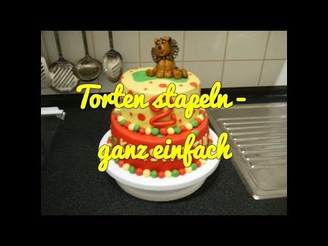 ▶ Motivtorten stapeln ganz einfach - Torten backen + dekorieren - YouTube