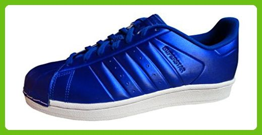adidas originals superstar mens trainers S31641 sneakers shoes (US 8.5, Royal blue white BB4876)