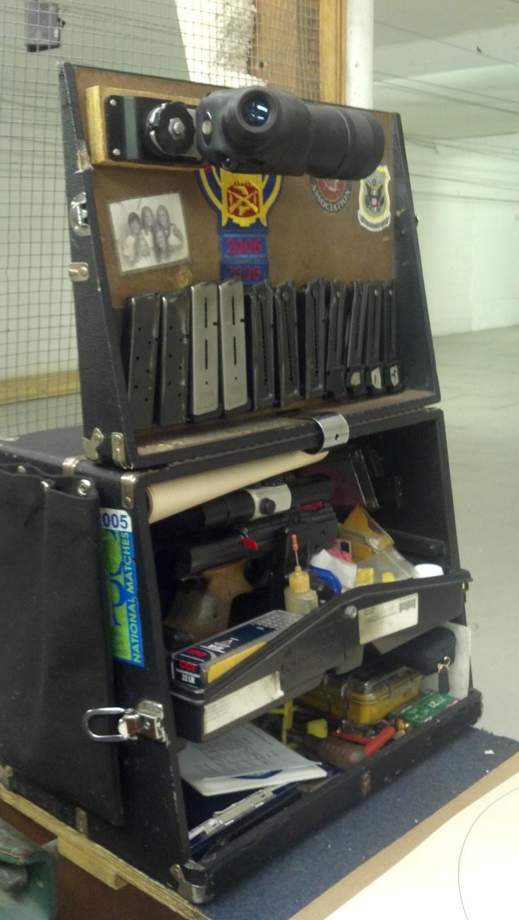 M And P Shield Custom Pistol box - lid - Sco...