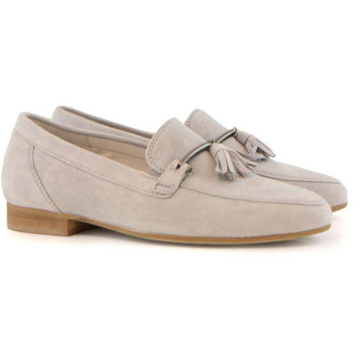 Gabor loafer kwast light grey suede | GRATIS VERZENDING* #Gabor #loafer # instapper