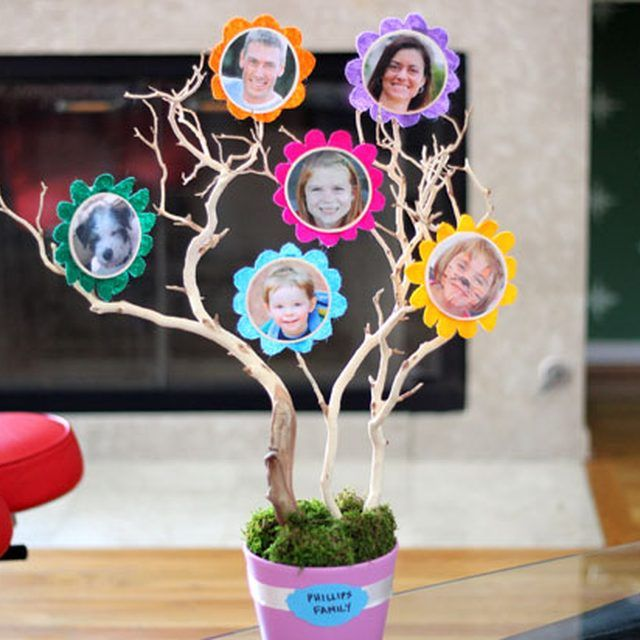 A colorful family tree