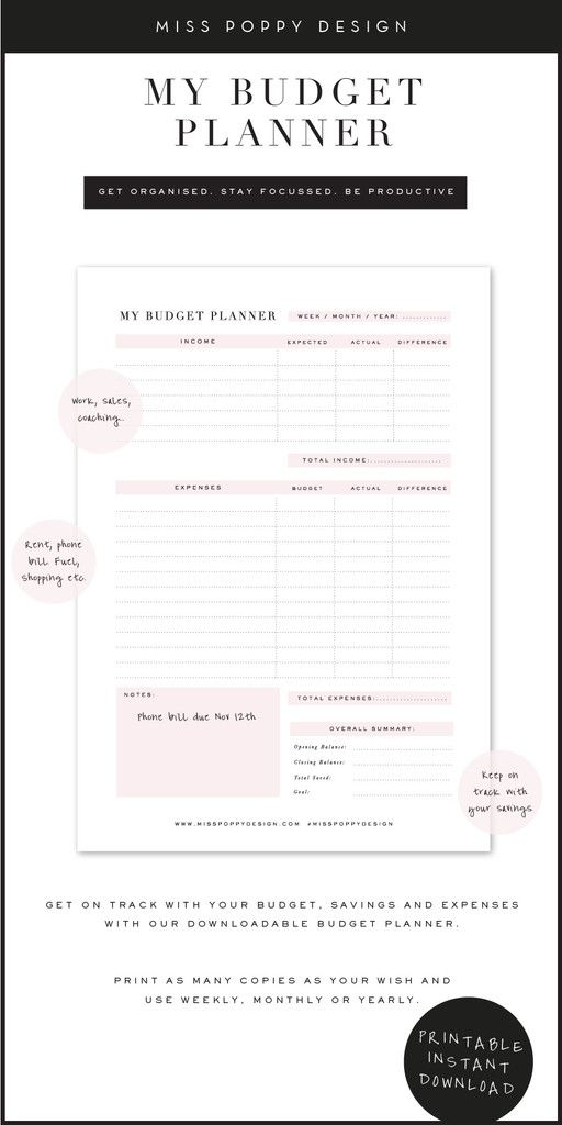 Best 25+ Budget planner ideas on Pinterest | Monthly budget sheet ...