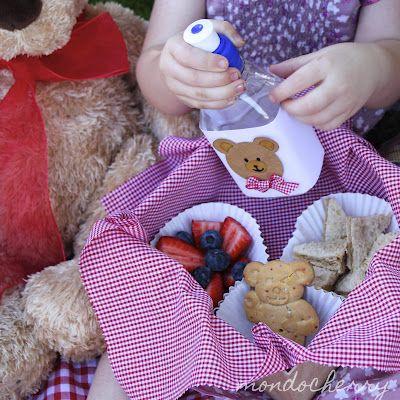 Teddy bear picnic basket - kid's party
