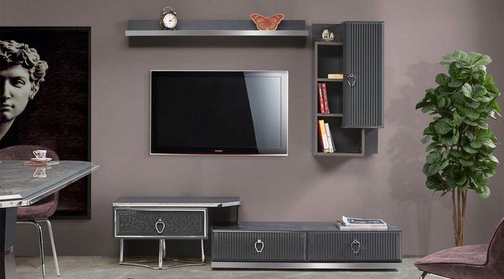 katre gri tv unitesi tv alanlar dolaplar