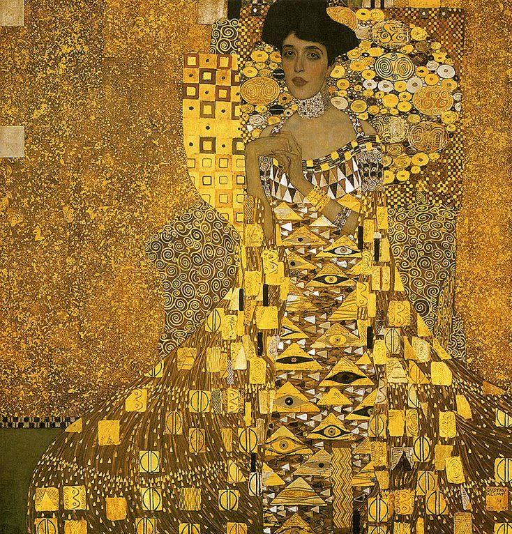 Portrait d'Adele Bloch-Bauer 1907 Neue Gallery New York. Klimt.