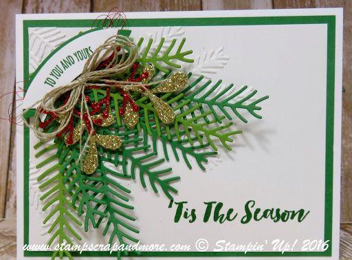 Christmas Card, Christmas Pines, Stampin' Up!