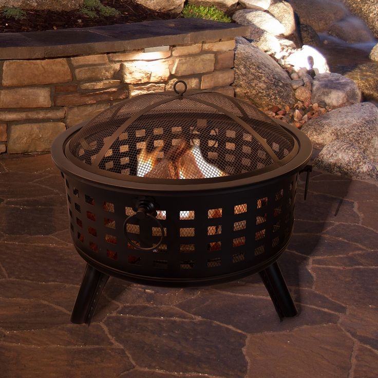 "26"" Wood Burning Fire Pit Set"