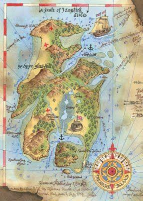 Roberto Innocenti - Mappa dell'Isola del tesoro