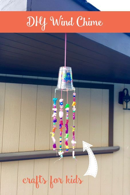 These simple beaded wind chimes make a great craft for kids of any age, both boys and girls using dollar store items.
