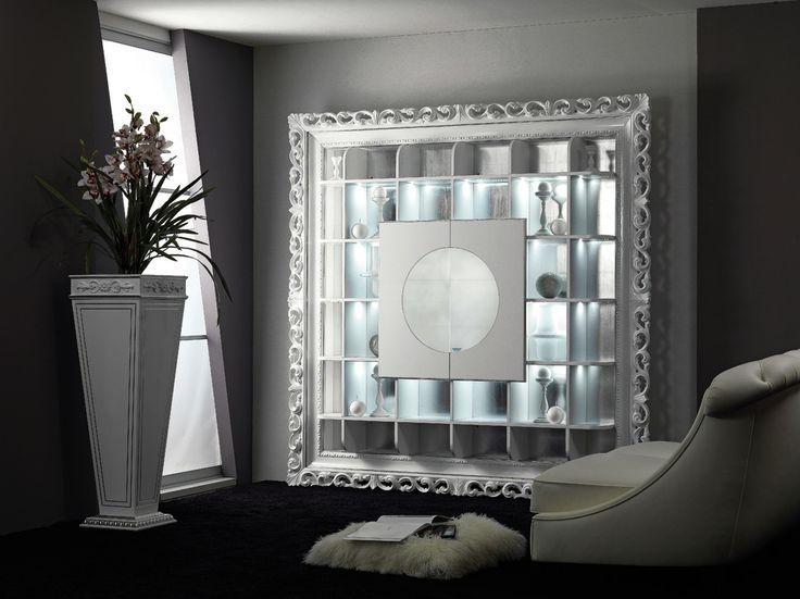Mobile bar barocco bianco lucido tavolino contenitore - Mobile bar bianco ...