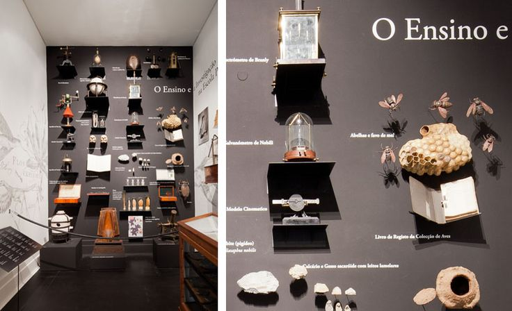 A rich feel from this eclectic display method. P-06 Atelier | MNHNC, Lisbon, 2012