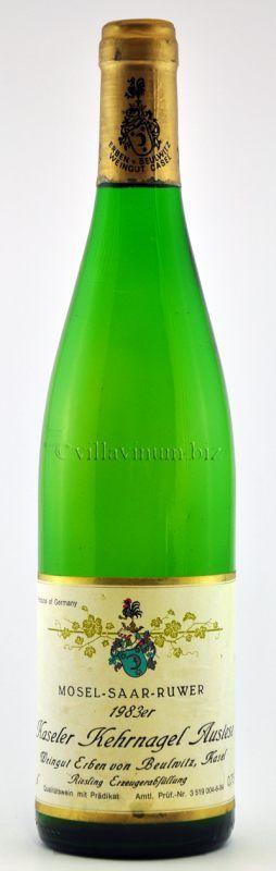 1983 Kaseler Kehrnagel, Riesling Auslese, fruchtig, Erzeugerabfüllung Weingut Erben von Beulwitz, Mertesdorf, Mosel, Deutschland (€ 45)