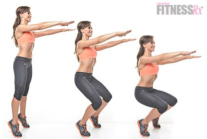 "Karina Smirnoff: Relevé Parallel Squat. Train abs and glutes like a dancer! Karina Smirnoff of ""Dancing With the Stars"" shows us a favorite move for abs."
