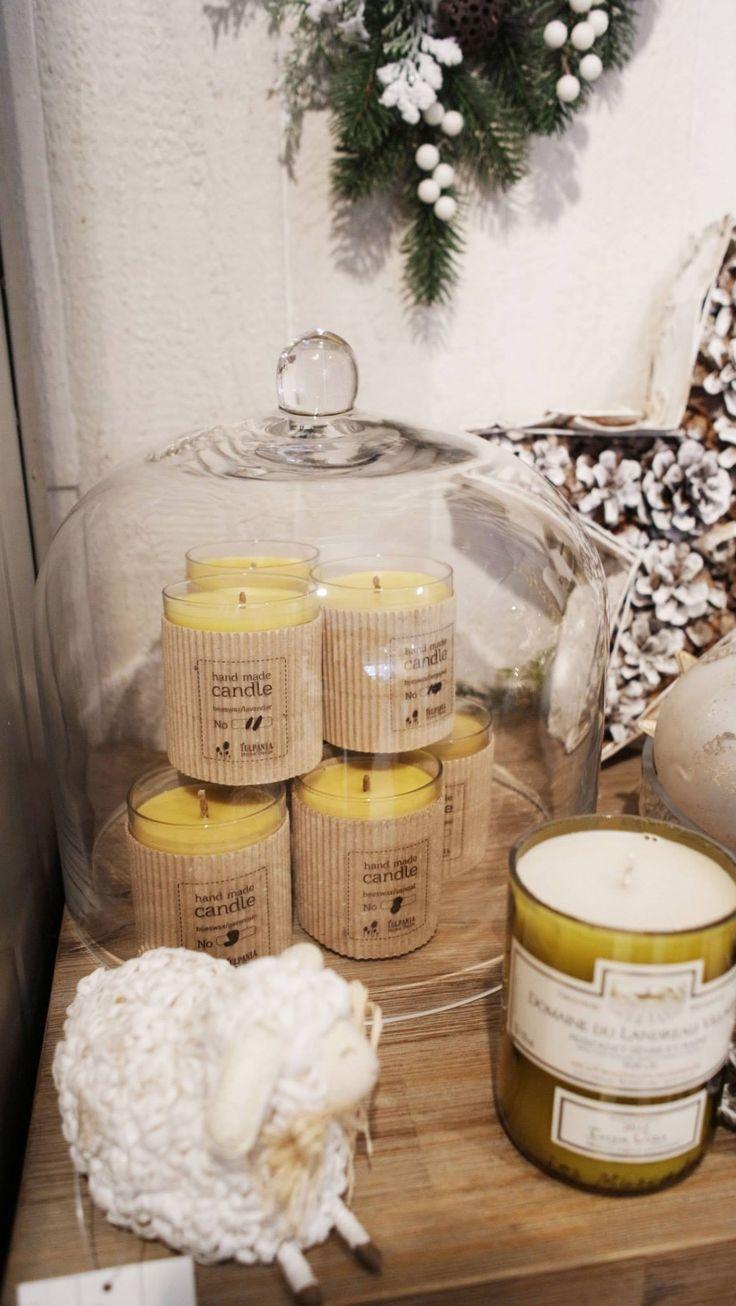 Свечи из натурального пчелиного воска с ароматическими маслами
