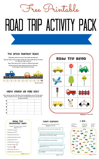 33 best diy keepsake travel crafts images on pinterest travel free printable road trip activity pack fandeluxe Images