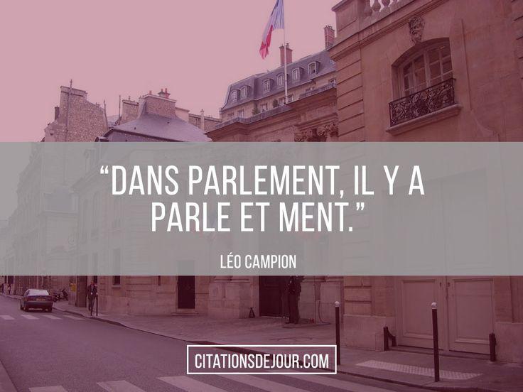 parlement citation politique