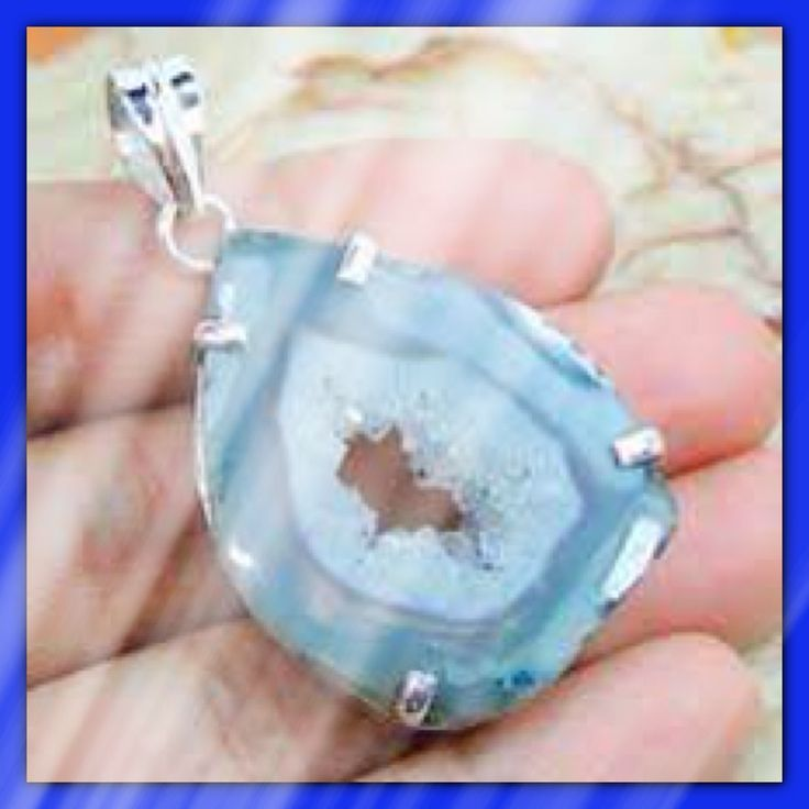 Sterling Silver charm with Blue Agate by Catalina Saldarriaga Jewelry.