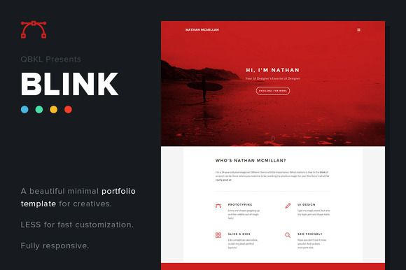 Check out BLINK - Creative Portfolio Website by QBKL on Creative Market