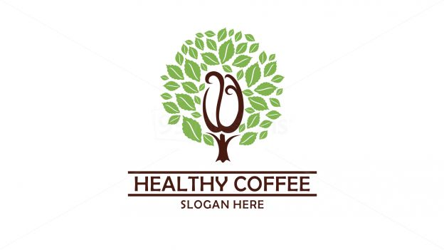 healthy coffee on 99designs Logo Store