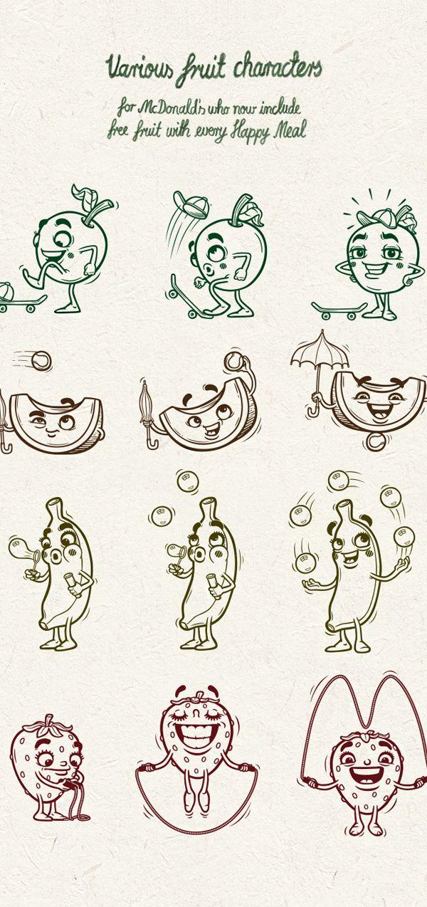 Andreas Krapf Creates Playful Fruit Characters for#McDonalds