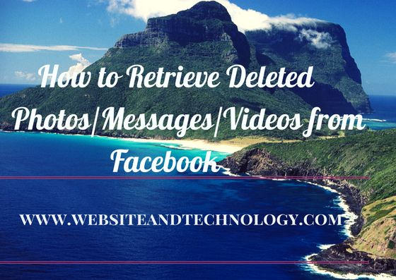 The article provides you a complete guide to recover deleted photos from Facebook. Now retrieving media files is hassle-free job for you.