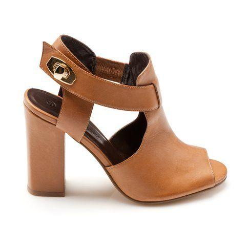 Sandales cuir à talon femme - 3Suisses