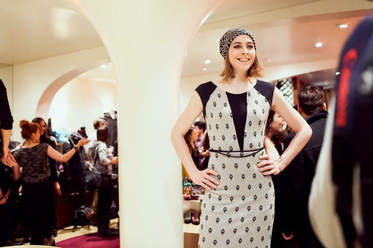 Ève Landry porte une robe Cokluch de la collection AH14 || cokluch.com