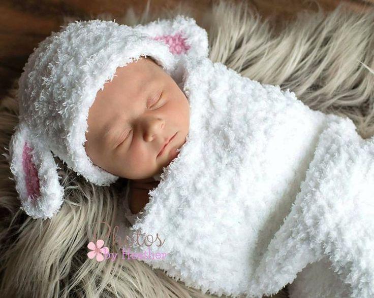 Little Lamb Baby Cocoon Crochet Set