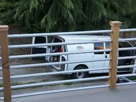 metal conduit deck railing on a GACO Deck