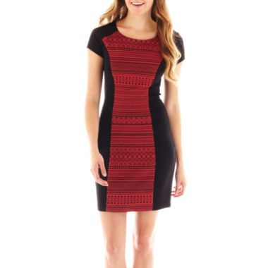 My Michelle® Cap-Sleeve Aztec Print Dress   found at @JCPenney CUTE FOR INTERVIEW AND INTRO