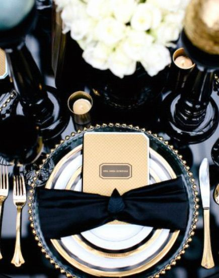 Jazz Age Inspired Tablescape | Art Deco / Great Gatsby Wedding Inspiration | Arizona Wedding Planners | See More at www.letsmakeitmine.com/blog