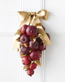 Pomegranate door decoration. So cute for the holidays!