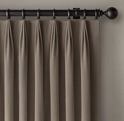 3-Fold Tailored Pleat Drapery | Restoration Hardware