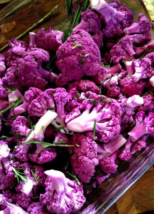 Coconut Roasted Purple Cauliflower with Fresh Rosemary | fastPaleo Primal and Paleo Diet Recipes