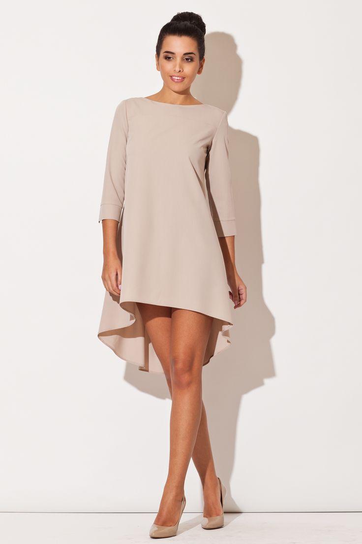 Asymetryczna zmysłowa sukienka